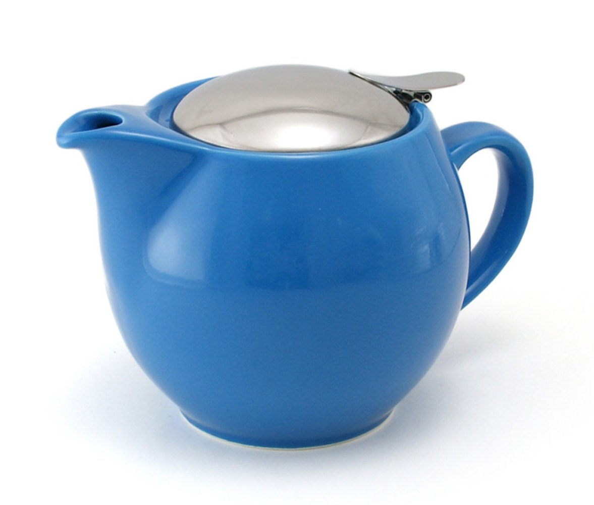 ZEROJAPAN 15oz Round Teapot with SLS Lid and Infuser (Turquoise)