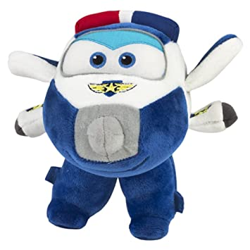 Super Wings - Peluche Paul, 19 x 17.5 cm (ColorBaby 75877)
