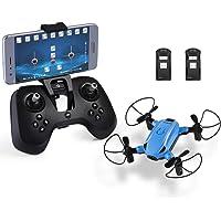 HELIFAR RC Drone avec Caméra HD X1 WiFi FPV Drone Pliable Quadcopter Télécommande 2.4GHz 6 Axes Mini Drone Maintien Altitude pour Journée des Enfants