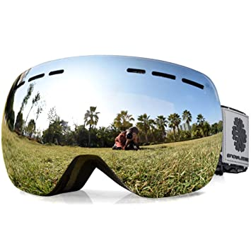 b16ea1ccf8a3 Snowledge Ski Gogggles Mirrored Lens