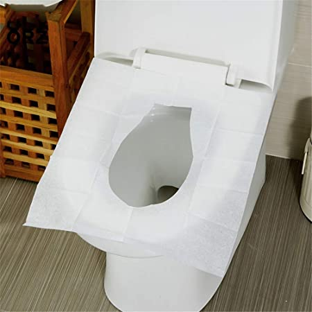 Yicix 10packs 100pcs Disposable Toilet Seat Cover Mat Waterproof Travel Portable Toilet Paper Pad Travelling Bathroom Accessories Amazon Co Uk Kitchen Home
