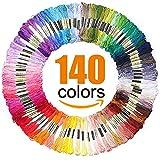 #4: Premium Rainbow Color Embroidery Floss - Cross Stitch Threads - Friendship Bracelets Floss - Crafts Floss - 140 Skeins per Pack