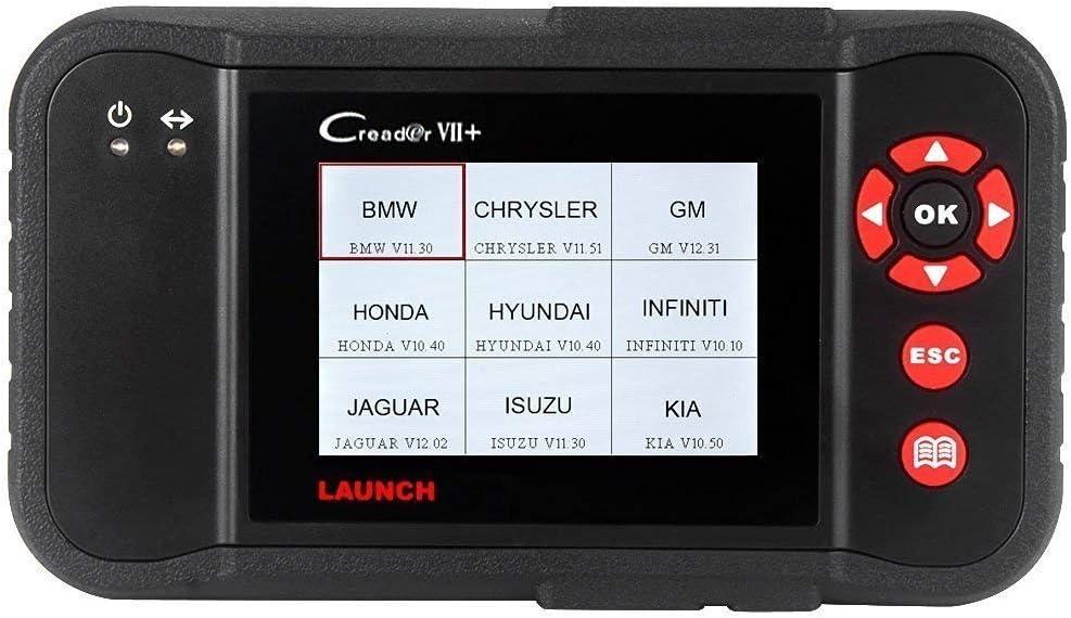 Launch CR VII+ X431 Herramienta de Diagnóstico OBDII / EOBD / OBD y Lectura Borrado de códigos de error, Motor, Transmisión, ABS, Airbag (SRS) en pantalla TFT 3,5 pulgadas 320 x 480 tarjeta de 1GB
