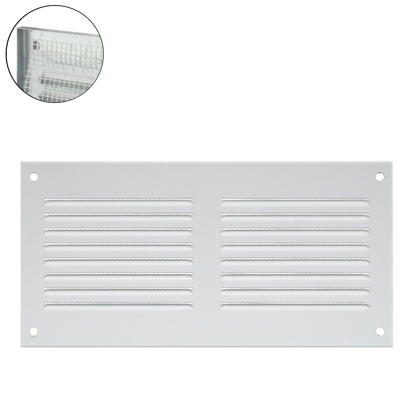 /Rejilla de ventilaci/ón rejilla de pared cierre metal Canalizado zufluft Mosquitera /18526/ MKK/ Marr/ón