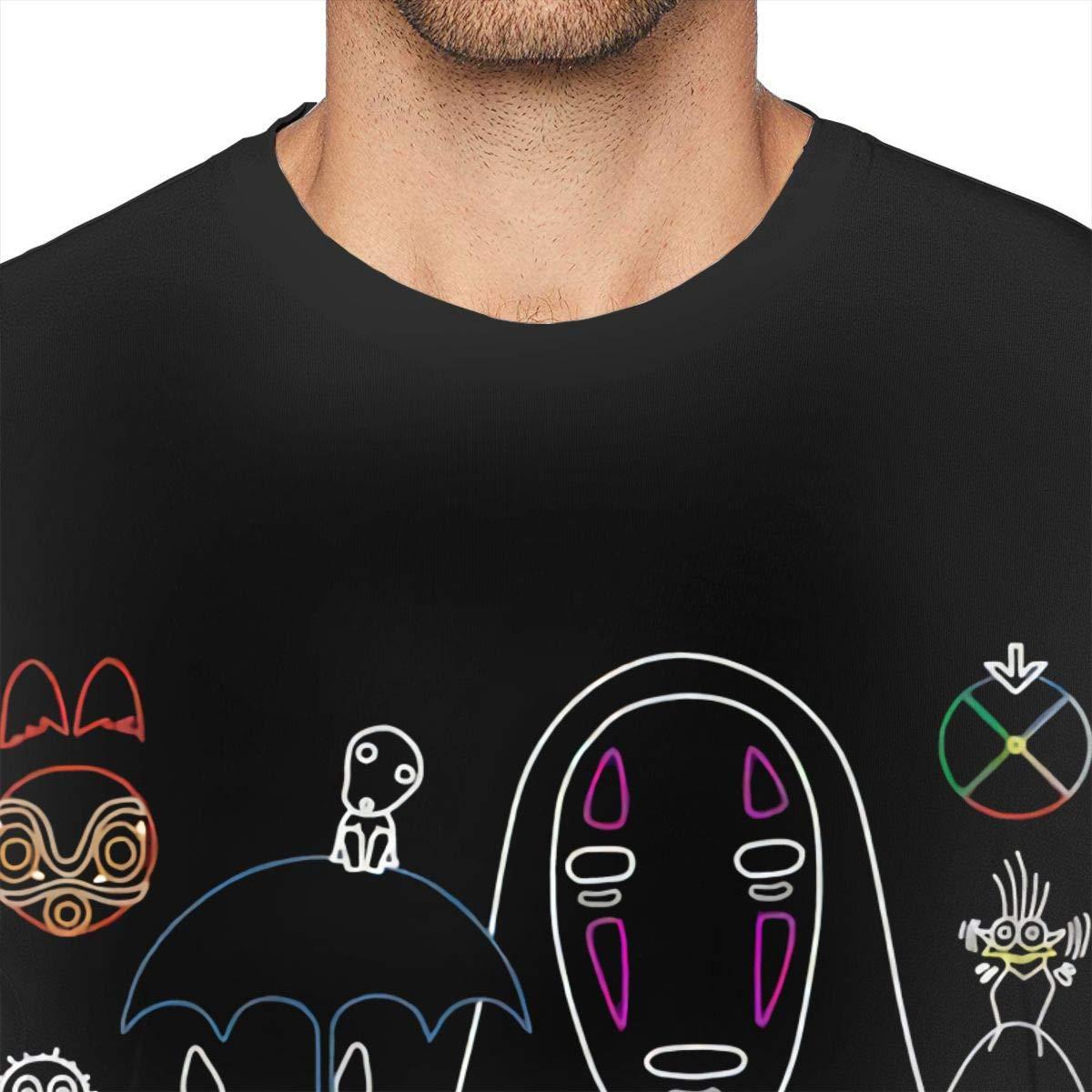 NeedLove Mens Cool Ghibli Mix V T-Shirt Black