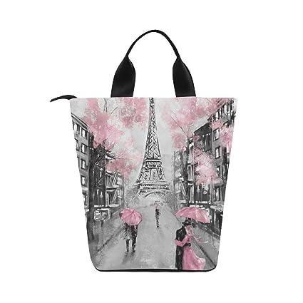 e2f35850797e Amazon.com: InterestPrint Nylon Cylinder Lunch Bag Unique Design Oil ...