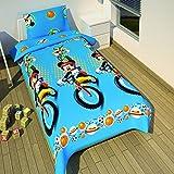 Disney Mickey Mouse - Reversible Single Panel Duvet Set, Bed Linen - Mouse & Goofy