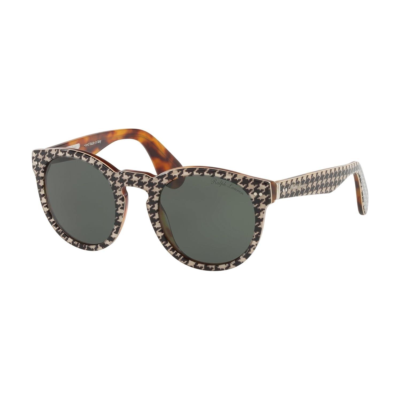 Amazon.com  Ralph by Ralph Lauren Women s 0rl8146p Round Sunglasses new  pied de poule 49.2 mm  Clothing 739bad4b6744