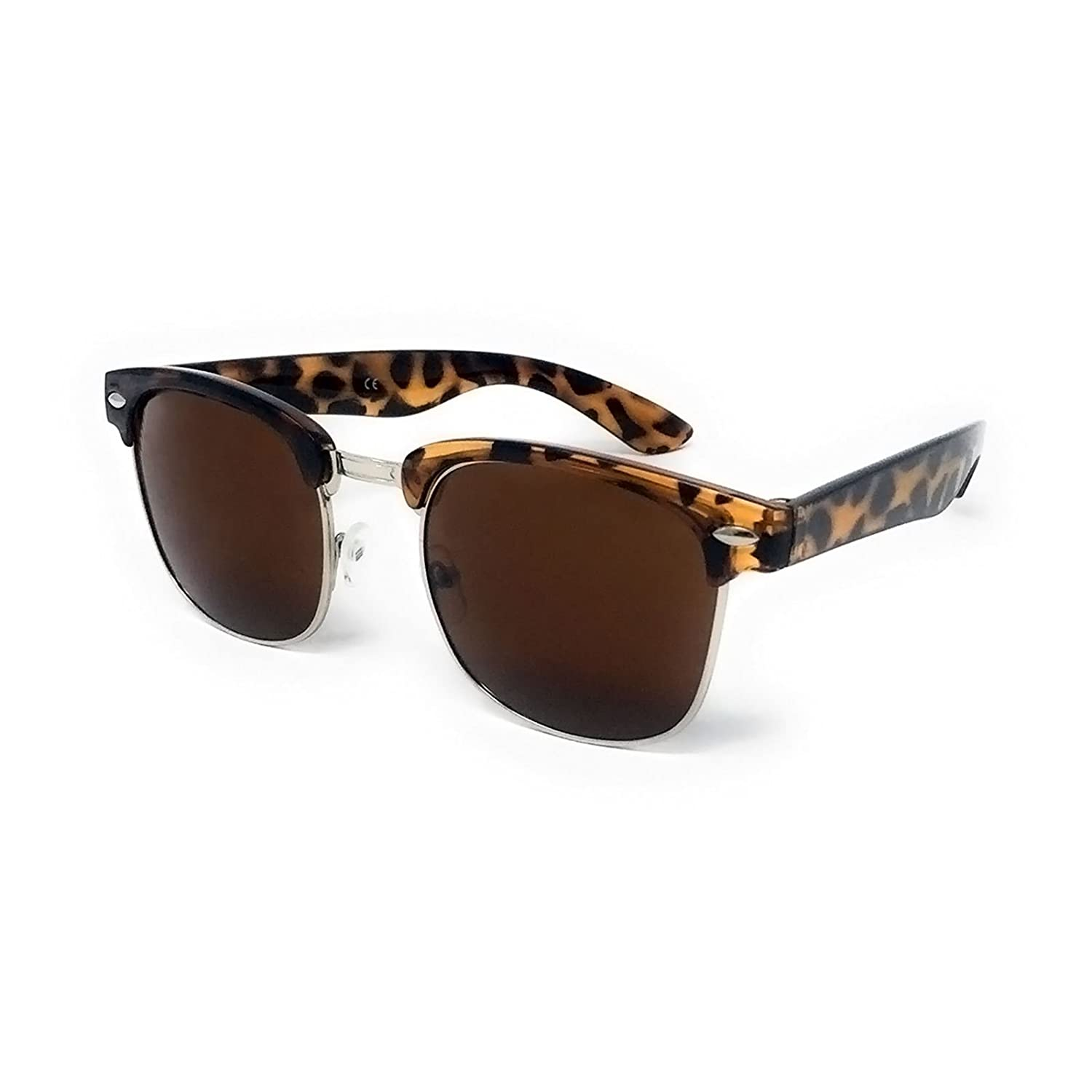 1950s Style Sunglasses - Vintage Retro Unisex Shades 100% UV400 Protective Silver Mirrored Lens]