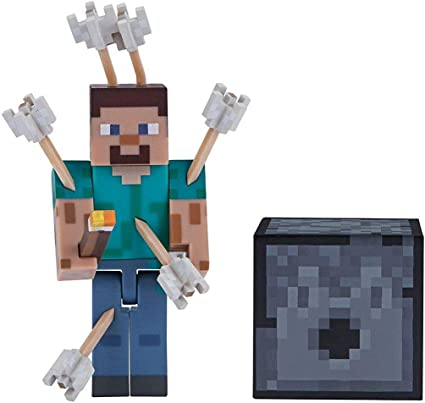 Amazon Com Minecraft Figure Pack Color Steve With Arrows Toys Games
