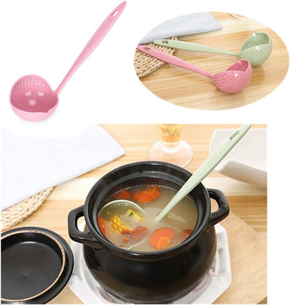 Flybloom Soup Spoon Colander Two In One With Long Handle Spoon Hot Pot Colander Spoon Spoon Spoon Porridge Spoon Beige