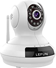 WiFi Camera, LeFun Wireless Surveillance IP Camera Nanny Cam Baby Monitor Provides Pan Tilt Zoom Motion Detect Two Way Audio Night Vision Support 2.4G WiFi and Echo Show