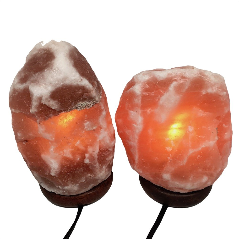 2x Himalaya Natural Handcraft Rough Raw Crystal Salt Lamp 6.75''-7.75''Tall, X0108, Exact Item will be Delivered