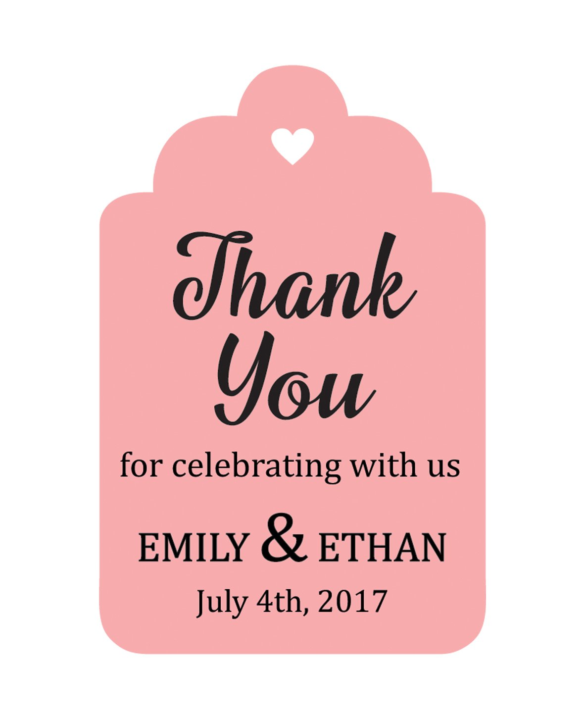100 PCS Personalized Paper Tags Thank You For Celebrating Custom ...