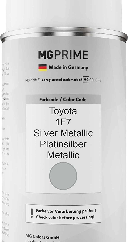 Mg Prime Autolack Sprühdosen Set Für Toyota 1f7 Silver Metallic Platinsilber Metallic Basislack Klarlack Spraydose 400ml Auto