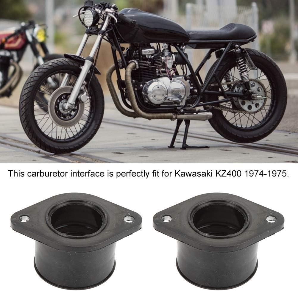 KSTE 2pcs Set Moto Carburateur Interface de Remplacement Compatible with Fit Kawasaki KZ400 1974-1975