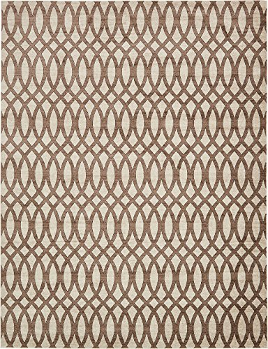 Modern Vintage Inspired Area Rugs Brown 10' x 13' FT Himalaya Collection Rug - rugs for living room - rugs for dining room & bedroom - Floor Carpet (Collection 13 Modern Rug)