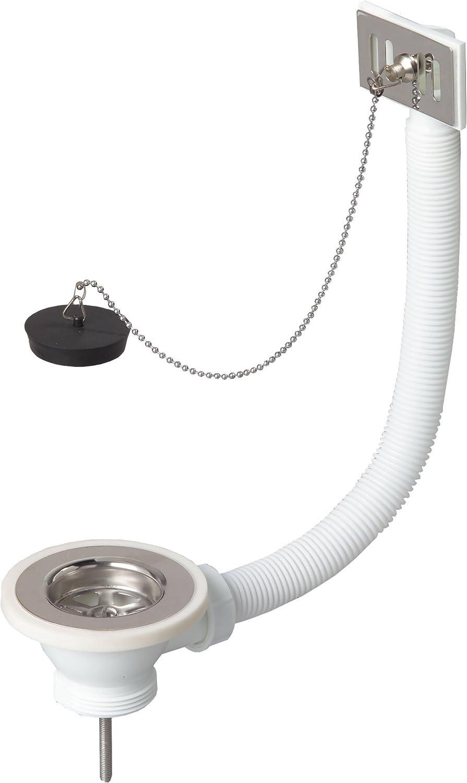 Wirquin SP229 tubo y tap/ón con cord/ón para fregadero V/álvula de desag/üe rebose