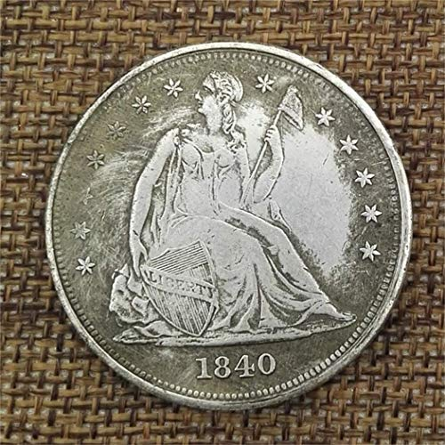 SeTing Best Morgan Silver Dollars/Old Coin Collecting-Silver Dollar USA Old Original Pre Morgan Dollar Coins LifeShop 1840 One ()