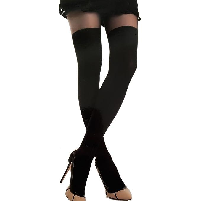 Toocool - Calze collant donna nero fashion effetto parigine lingerie sexy  nuove 1026-MOD  Amazon.it  Abbigliamento 70756ff6657