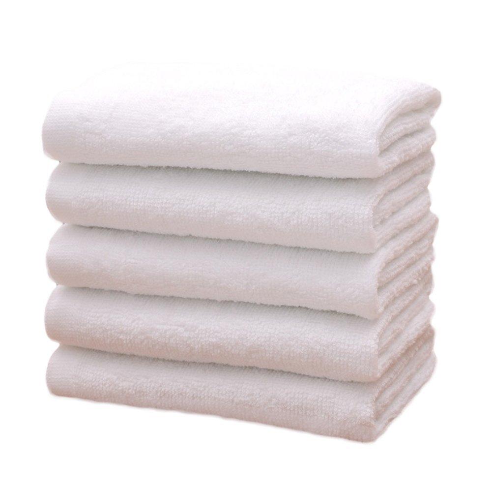 Wicemoon Lot de 5/serviettes en coton /à la main de bain Drap de bain Serviettes jetables pour Voyager