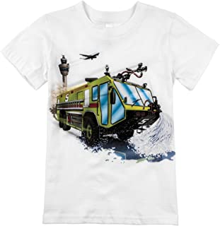 product image for Shirts That Go Little Boys' Airport Fire Truck T-Shirt