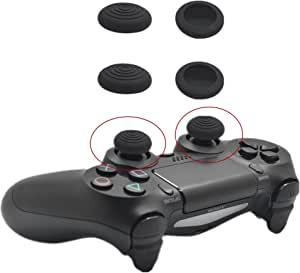 4 pcs Joypad TPU Gel Silicone Stick Cap Thumb Grips Compatible with Playstation 4 PS4/ Playstation 3 PS3/ Xbox One/Xbox 360 Controllers
