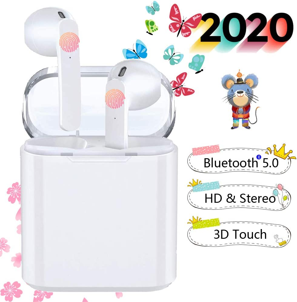 Auriculares Bluetooth 5.0 Auriculares Bluetooth Inalámbrico 950mAh 36H Tiempo De Juego Audio Stereo 3D in Ear con Mic, IPX7 Resistentes al Agua para Apple / Airpods Pro / Android / iPhone / Samsung