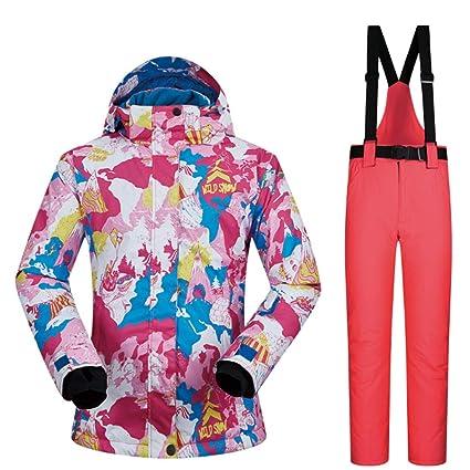FELICIG Chaqueta de Invierno para Mujer Chaqueta de Invierno Vestido de Deporte al Aire Libre Chaqueta