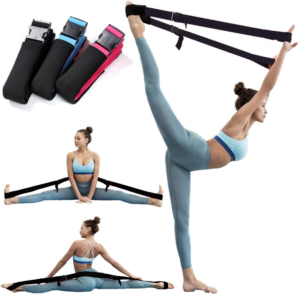Amazon Com Yoga Stretch Strap Elastic Band W Buckle For Ballet