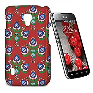 Phone Case For LG Optimus L7 II Dual P715 - Festive Peacock Scandinavia Hard Wrap-Around