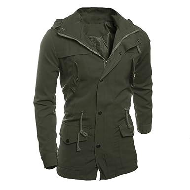 Uomini Moda Casuale Giacca Cappotto Sottile Outwear Cappotto Giubbotti  Invernali Uomo Sportivi Pesanti Cappotto Stile Inglese c926732ac22