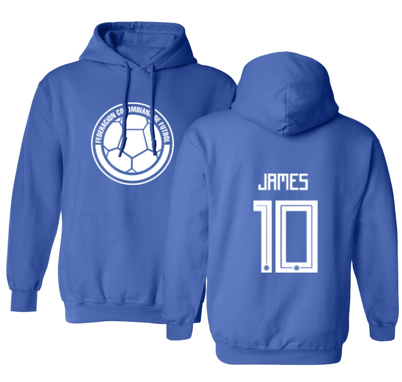 9a52074d059 Amazon.com   Tcamp Colombia 2018 National Soccer  10 James RODRIGUEZ World  Championship Men s Hooded Sweatshirt   Sports   Outdoors