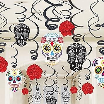 Amscan Adornos De Espirales Para Día De Los Muertos 30