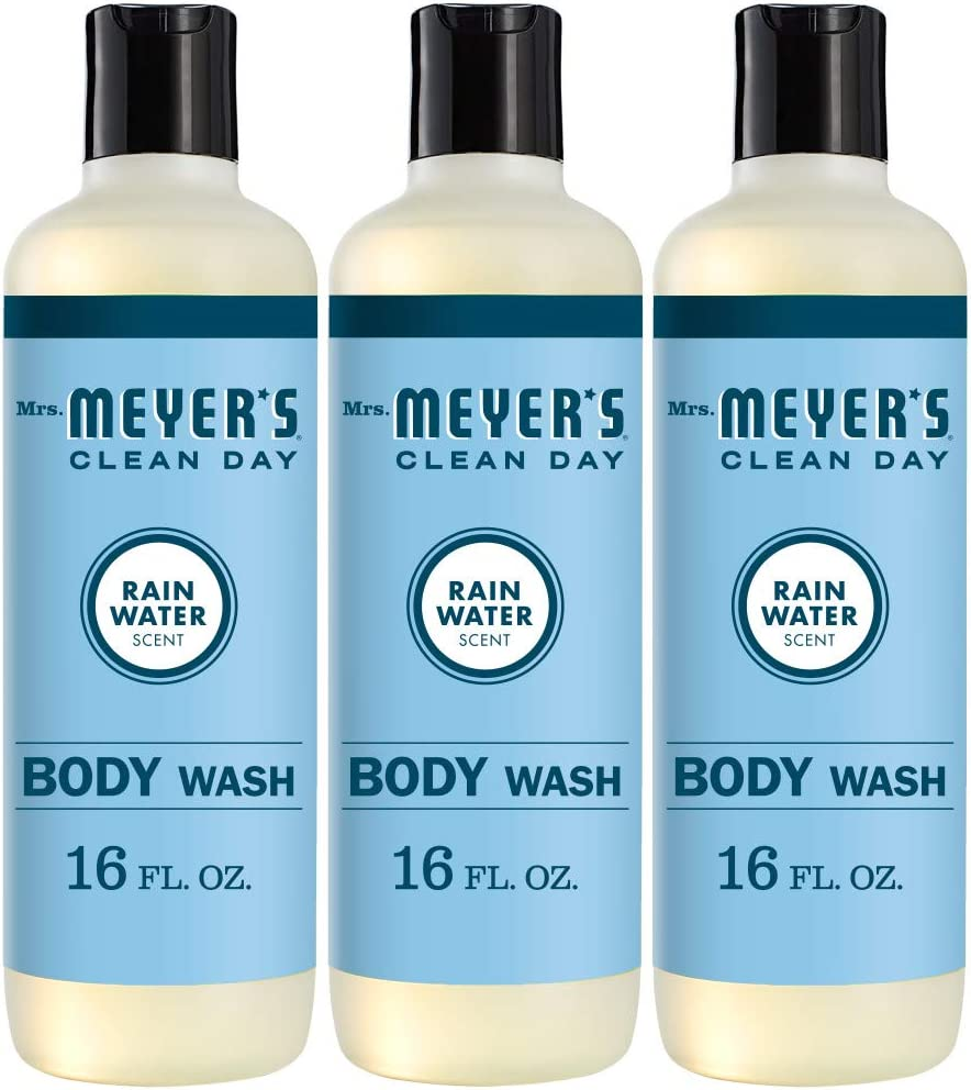 Mrs. Meyer's Clean Day Moisturizing Body Wash, Cruelty Free and Biodegradable Formula, Rain Water Scent, 16 oz- Pack of 3