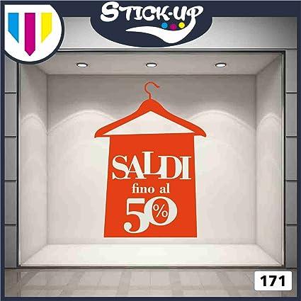 0dd4064e2a4a6b Vetrofanie - SALDI FINO AL 50% (ARANCIONE) - ADESIVI VETRINE NEGOZI - Vetrine  negozi per saldi, stickers, adesivi: Amazon.it: Casa e cucina