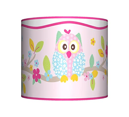 Twit twoo owl ceiling lampshade 10 drum girls pink bedroom lamp twit twoo owl ceiling lampshade 10quot drum girls pink bedroom lamp shade aloadofball Choice Image