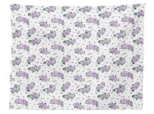 Mauve Elegance Round Tablecloth - vipsung Mauve Decor Tablecloth Elegance Blooms of Nature Romance Florets French Style Bridal Eco Art Print Dining Room Kitchen Rectangular Table Cover Lavender Green