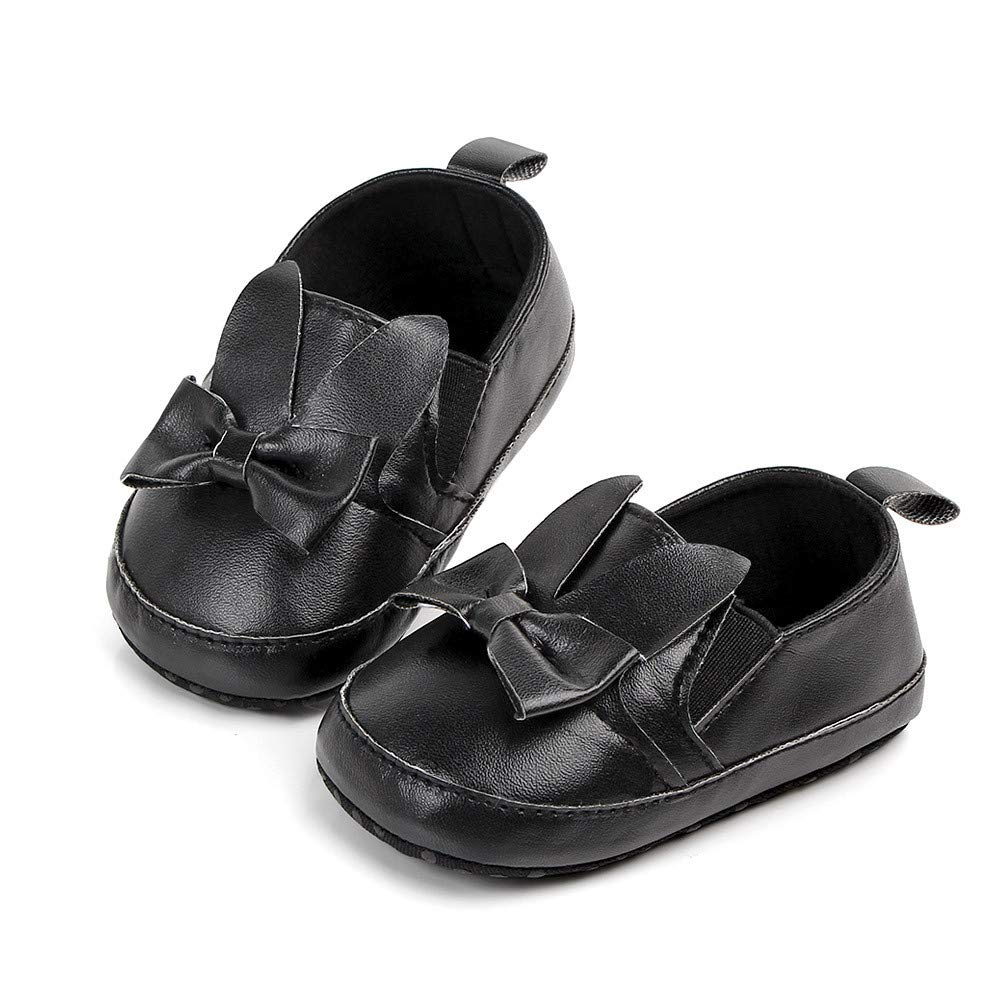 Colmkley Infant Toddler Girl First Walkers Soft Sole Bowknot Moccasins Crib Shoe