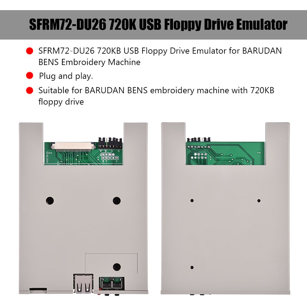 Richer-R Usb Emulator, SFRM72-DU26 720K USB Floppy Drive Emulator with High Security Data Protection, Easy to install and User-friendly for BARUDAN BENS Embroidery Machine by Richer-R (Image #4)