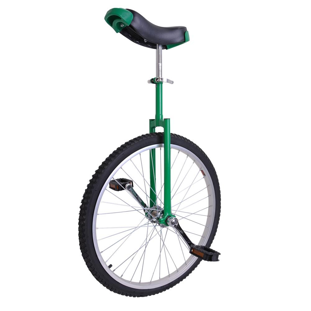 AW 24'' Inch Wheel Unicycle Leakproof Butyl Tire Wheel Cycling Outdoor Sports Fitness Exercise Health Green
