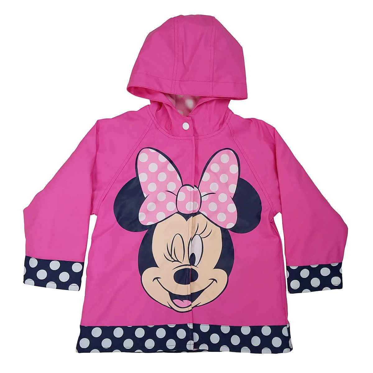 Western Chief Girls Disney Minnie Wink Rain Coat Pink 4T by Western Chief