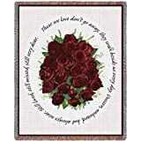 Pure Country Memorial Red Roses Tapestry Throw Blanket