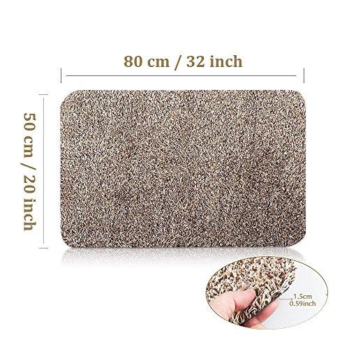 Indoor Outdoor Absorbent Magic Doormat|Front Door Inside Floor Shoes Scraper|Dirt Mud Trapper Perfect for Pet Kid|Large 20