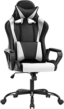 BestOffice Racing Gaming Chair with Lumbar Support Arms