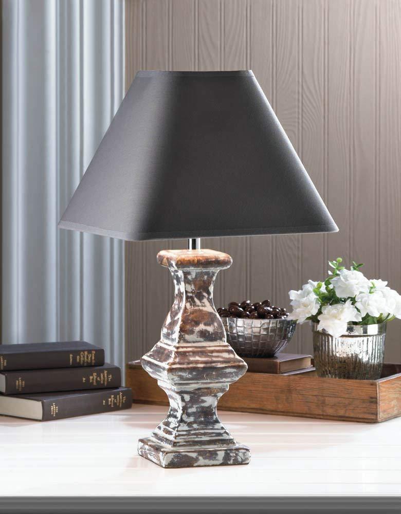 ROX Luxury House Vintage Look Ceramic Table LAMP Fabric Shade Furniture Lighting Bedroom Hall New