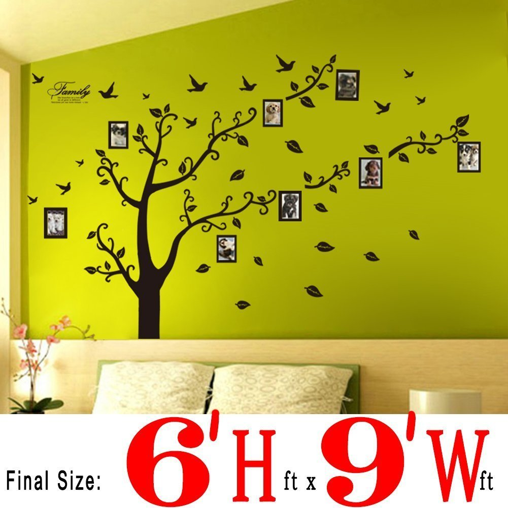 DaGou, Huge 7\' Ft(h) X 7\' Ft(w) Wall Decals, Memory Tree and Birds ...
