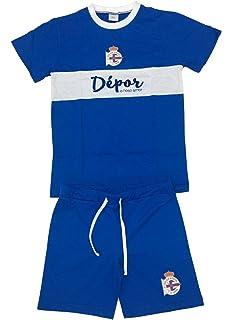Real Club Deportivo de La Coruña Pijdep Pijama Corta, Infantil