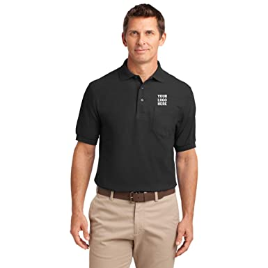 e935e405 Silk Touch Polo with Pocket - 12 Qty - 33.83 Each - Promotional Product  Black