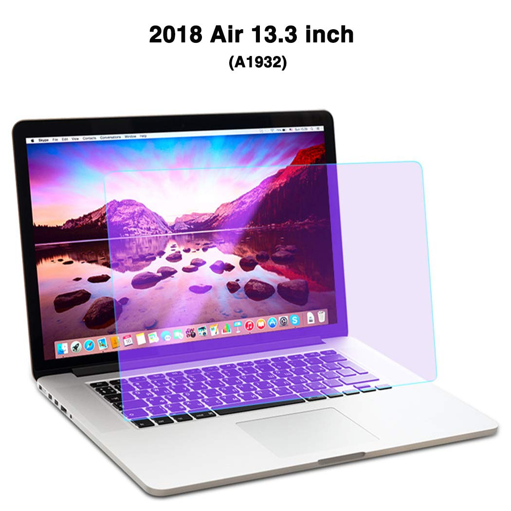 JAY-LONG Anti-Blaulicht Displayschutzfolie F/ür Apple Air 13,3 Zoll//Augenschutz Laptop LED Displayschutzfolie//Strahlungsreduzierung//Anti-UV ,A 2Er Pack